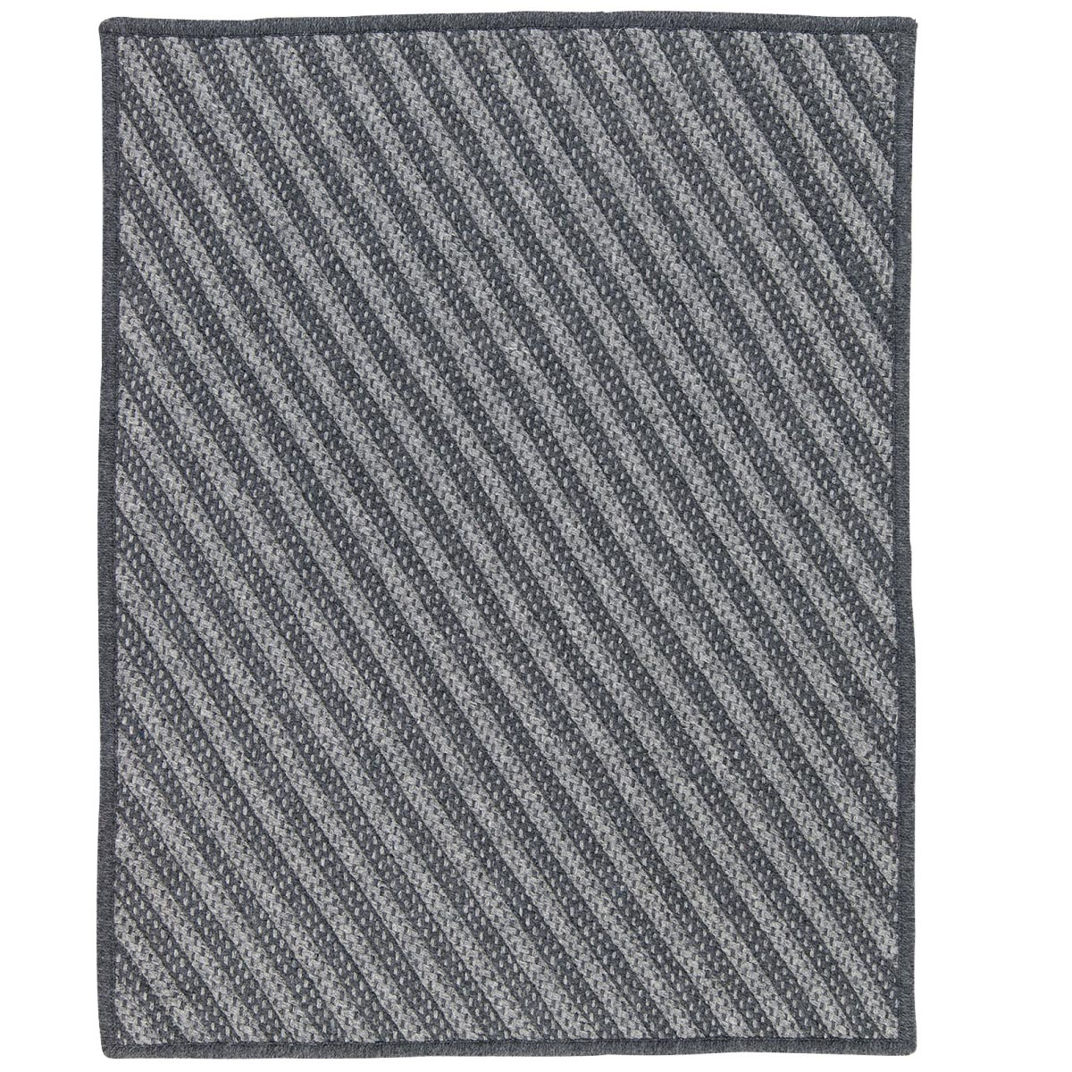 Blue Hill Charcoal Outdoor Braided Rectangular Rugs