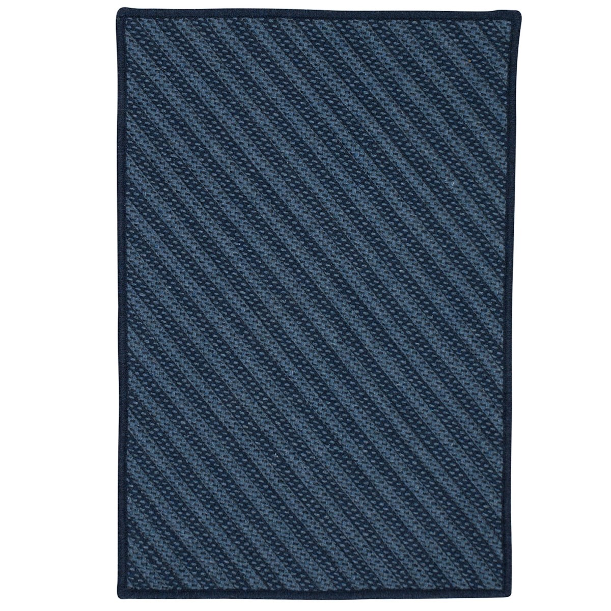 Blue Hill Navy Outdoor Braided Rectangular Rugs