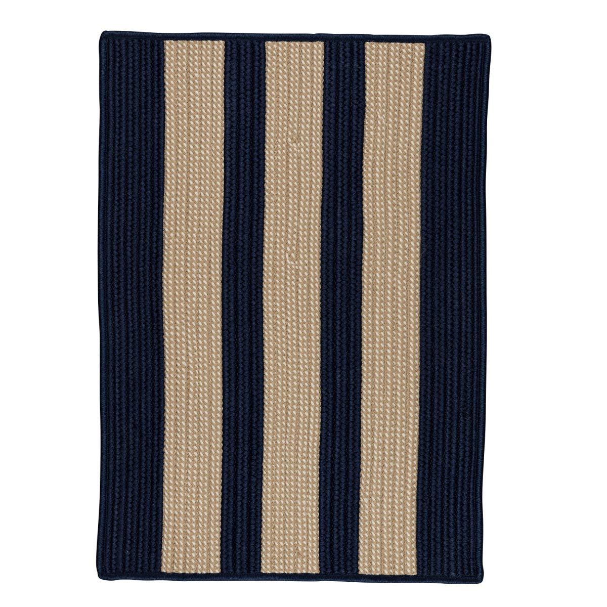 Boat House Navy Outdoor Braided Rectangular Rugs