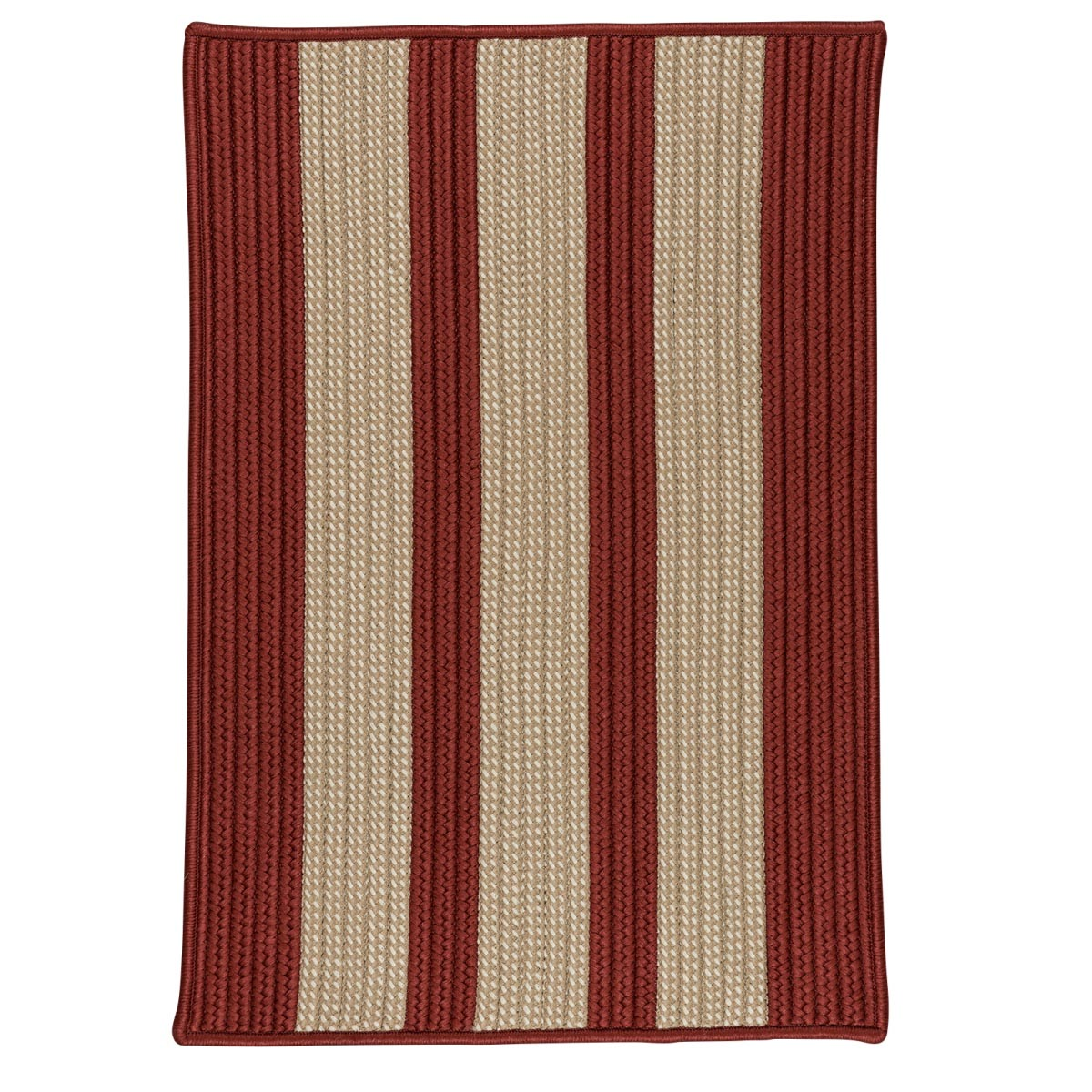 Boat House Rust Red Outdoor Braided Rectangular Rugs