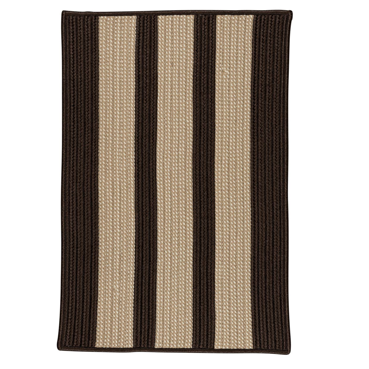 Boat House Brown Outdoor Braided Rectangular Rugs