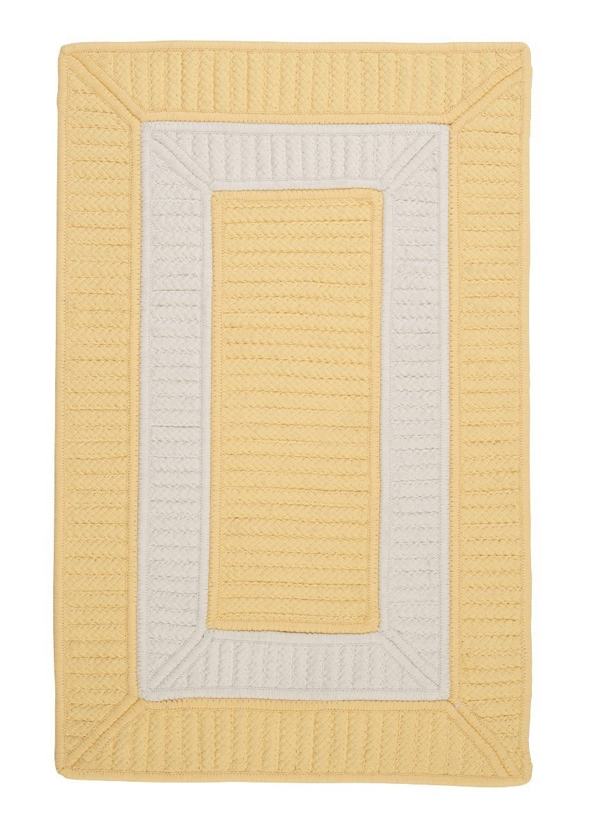 Rope Walk Yellow Outdoor Braided Rectangular Rugs