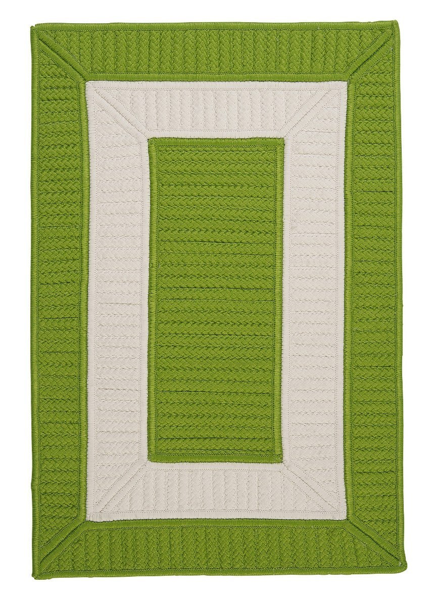 Rope Walk Bright Green Outdoor Braided Rectangular Rugs