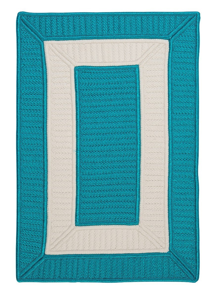Rope Walk Turquoise Outdoor Braided Rectangular Rugs