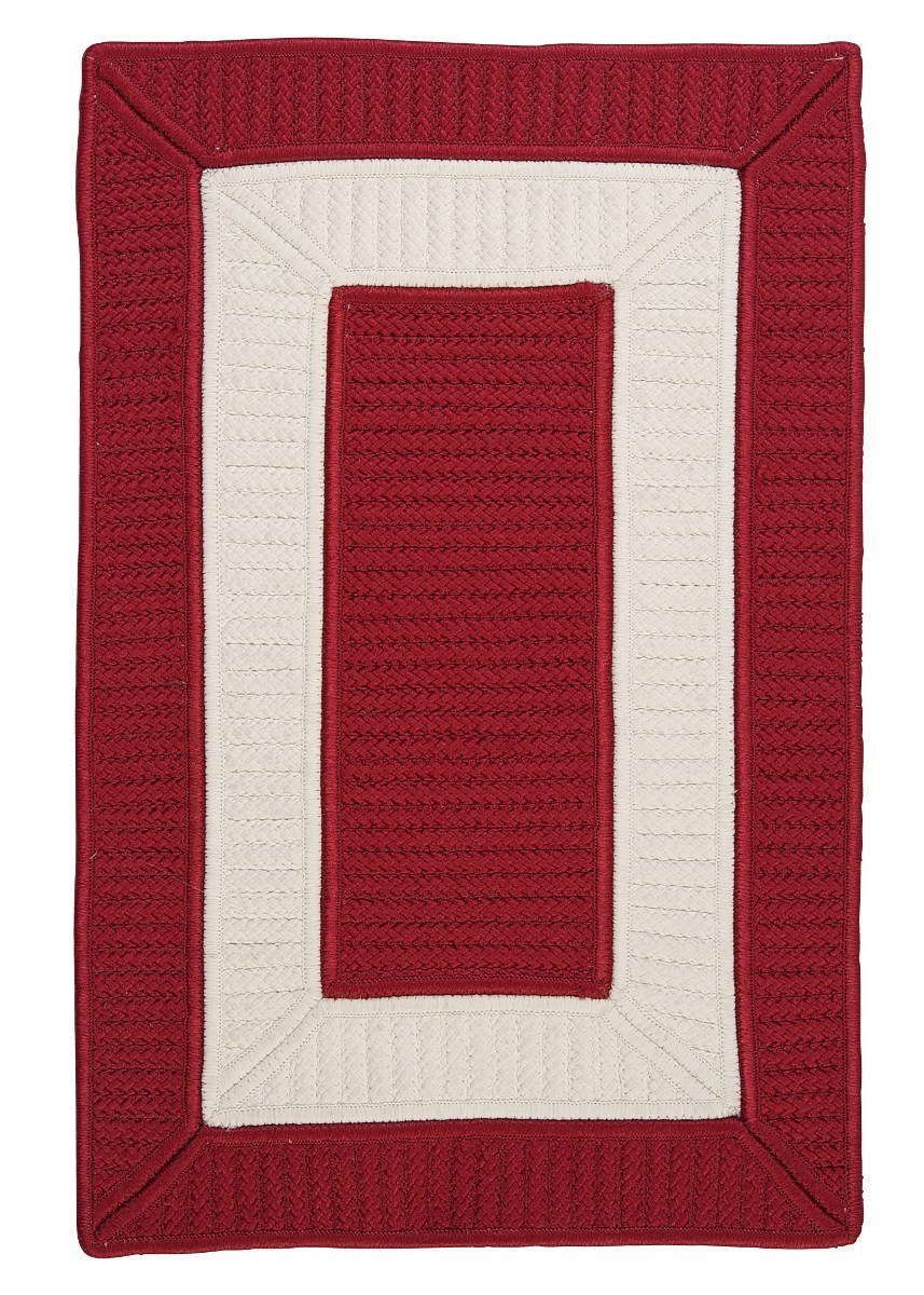 Rope Walk Red Outdoor Braided Rectangular Rugs