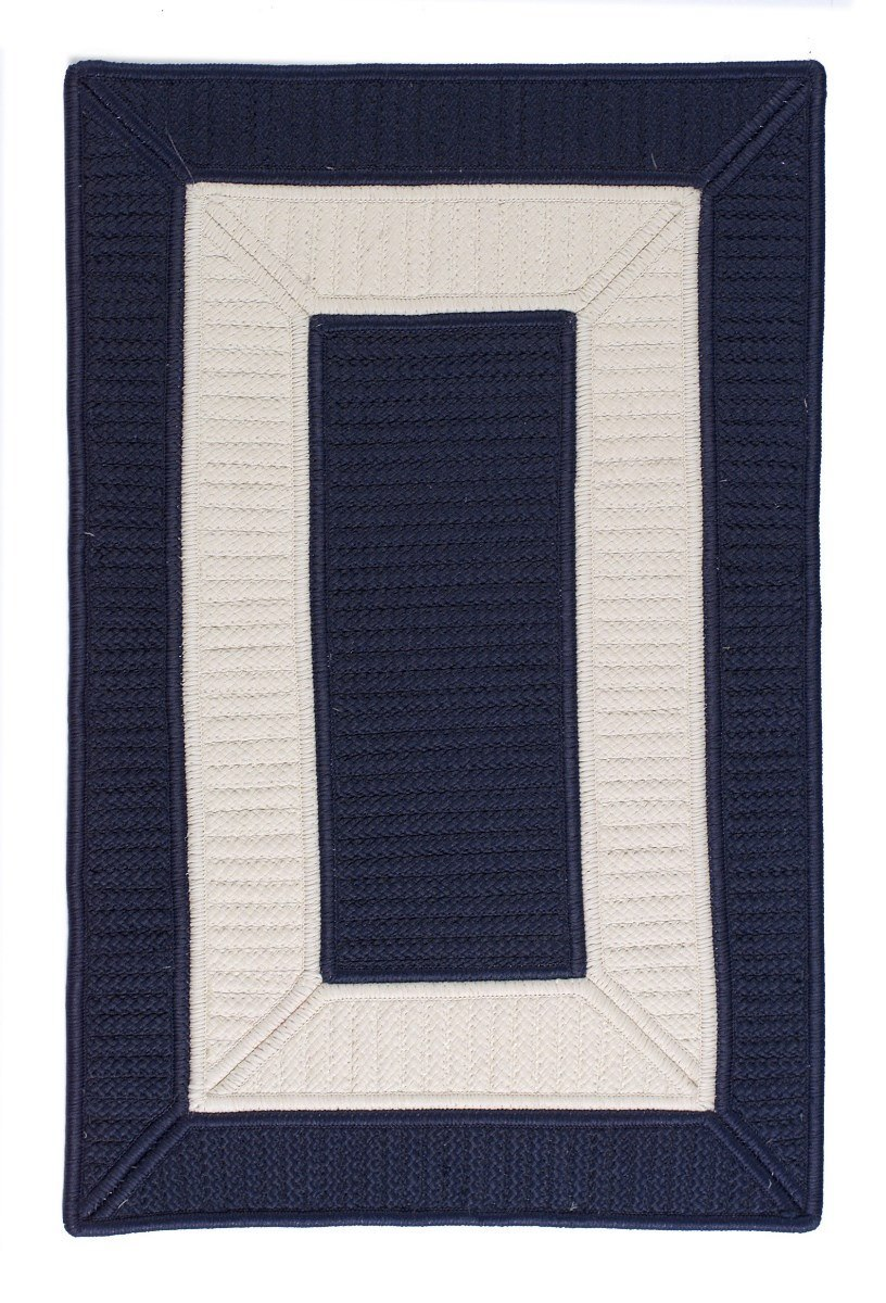 Rope Walk Navy Outdoor Braided Rectangular Rugs