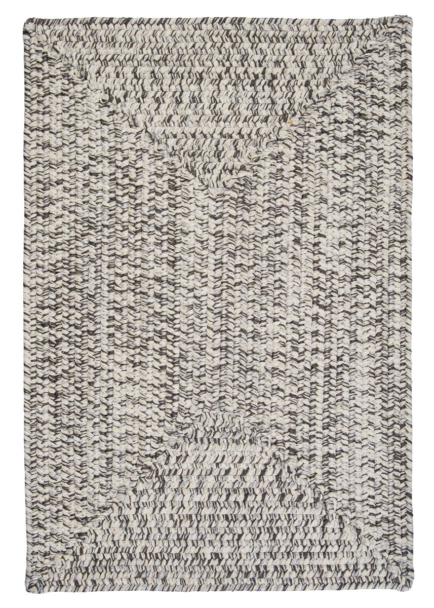 Corsica Silver Shimmer Outdoor Braided Rectangular Rugs
