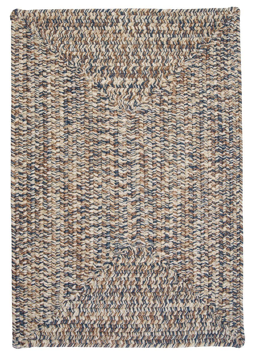 Corsica Lake Blue Outdoor Braided Rectangular Rugs
