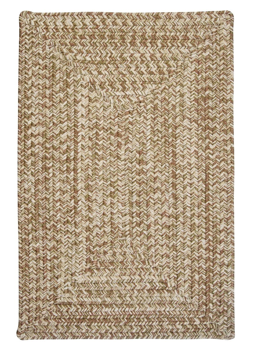 Corsica Moss Green Outdoor Braided Rectangular Rugs