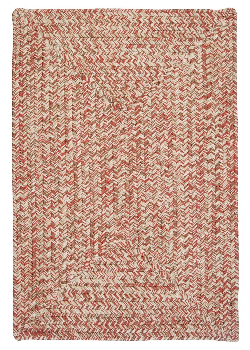 Corsica Porcelain Rose Outdoor Braided Rectangular Rugs