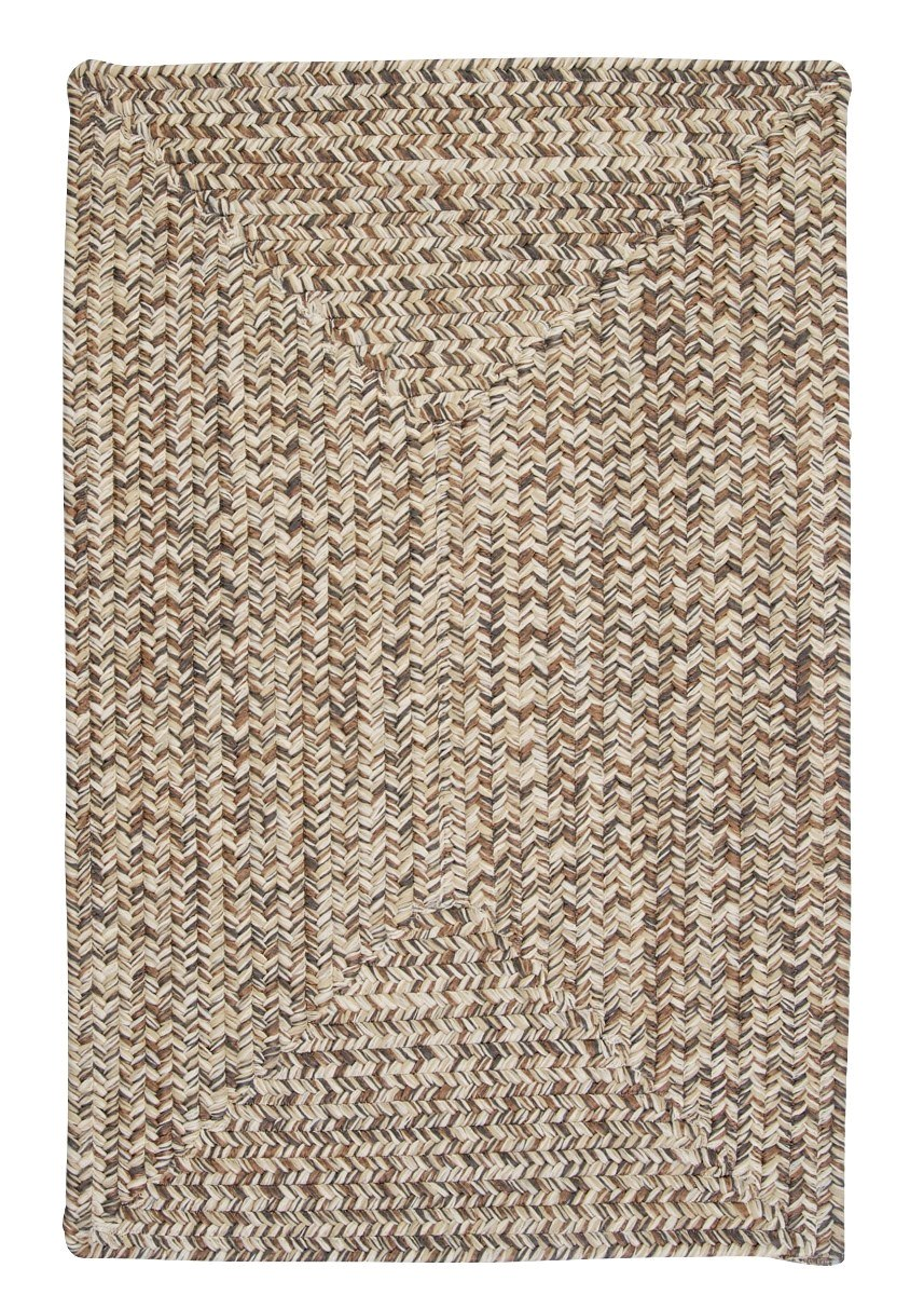 Corsica Storm Gray Outdoor Braided Rectangular Rugs