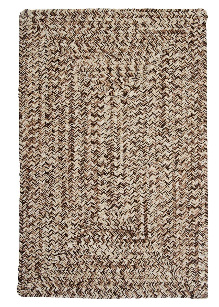 Corsica Weathered Brown Outdoor Braided Rectangular Rugs