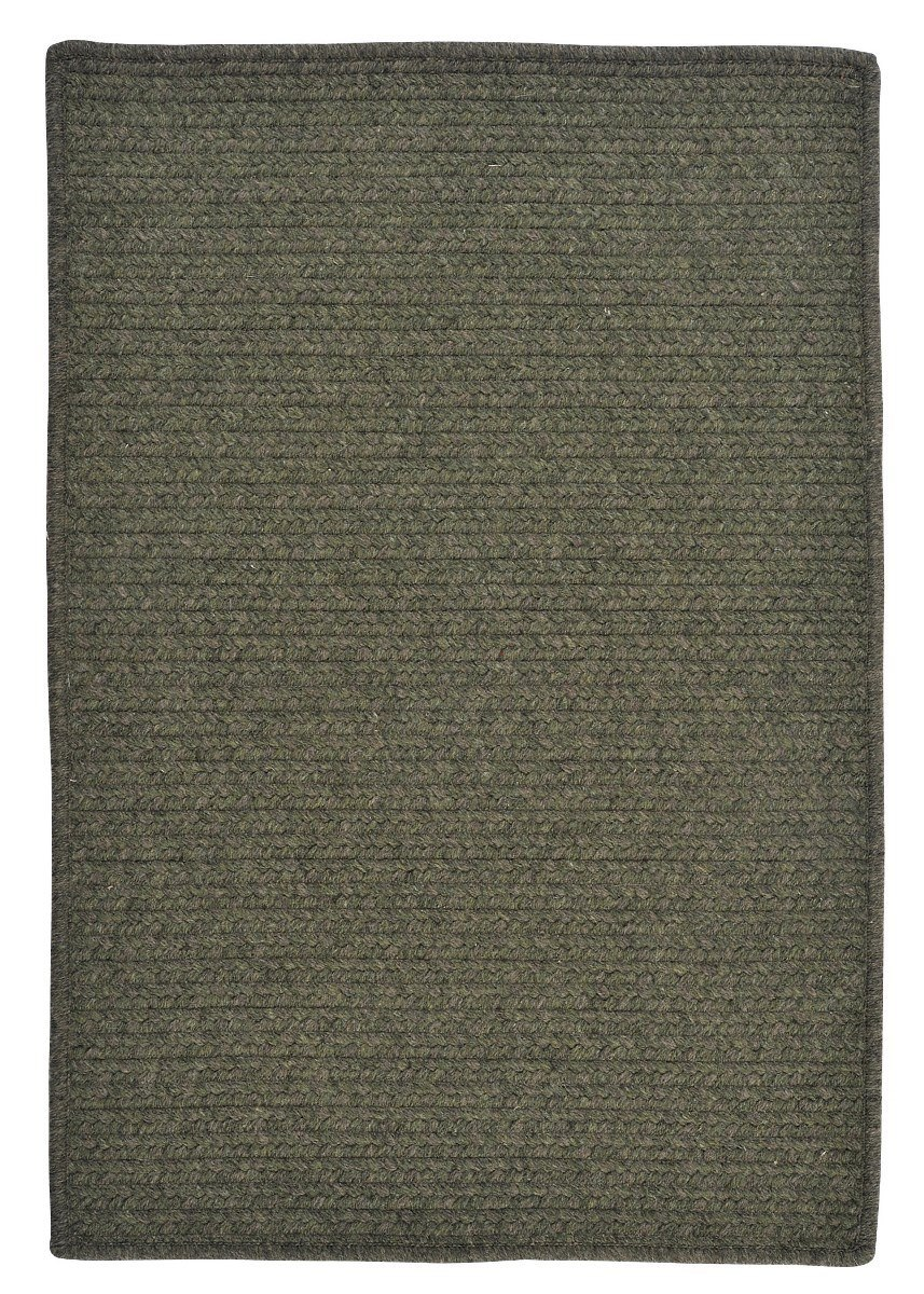 Courtyard Olive Outdoor Braided Rectangular Rugs