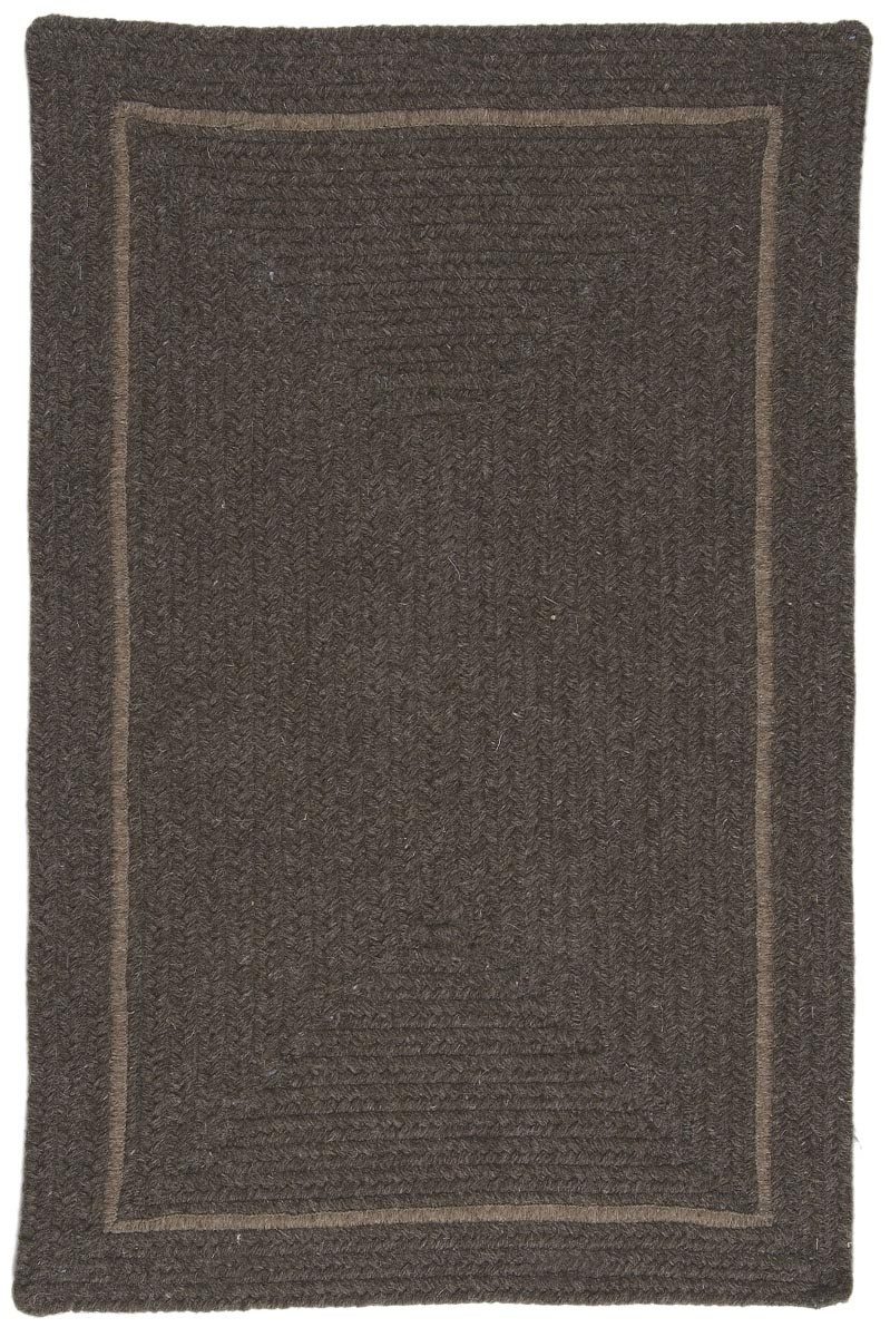 Shear Natural Rural Earth Wool Braided Rectangular Rugs