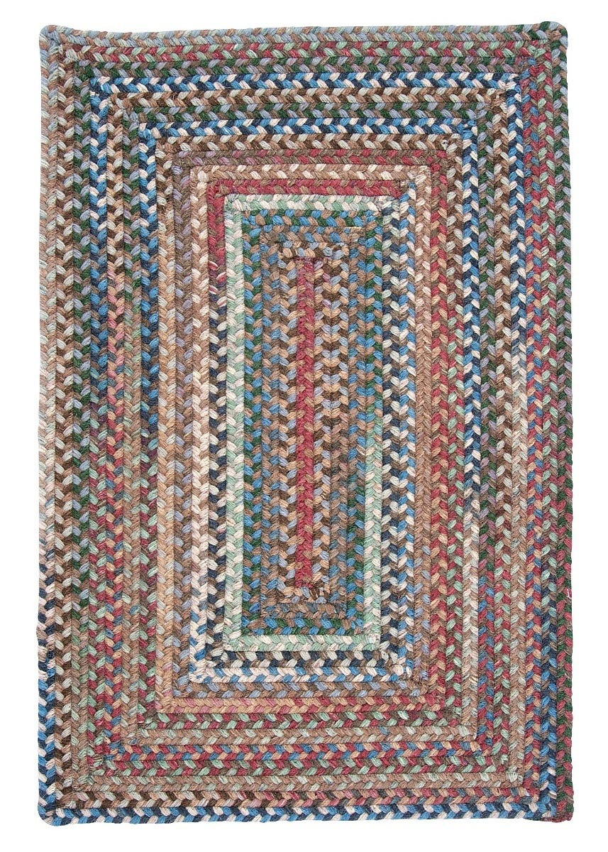 Gloucester Dusk Wool Braided Rectangular Rugs