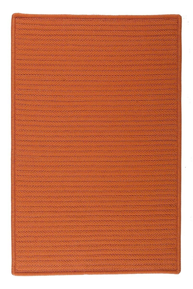 Simply Home Solid Rust Outdoor Braided Rectangular Rugs