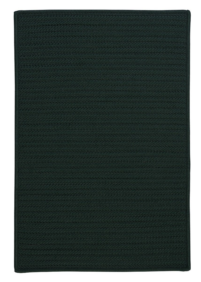 Simply Home Solid Dark Green Outdoor Braided Rectangular Rugs