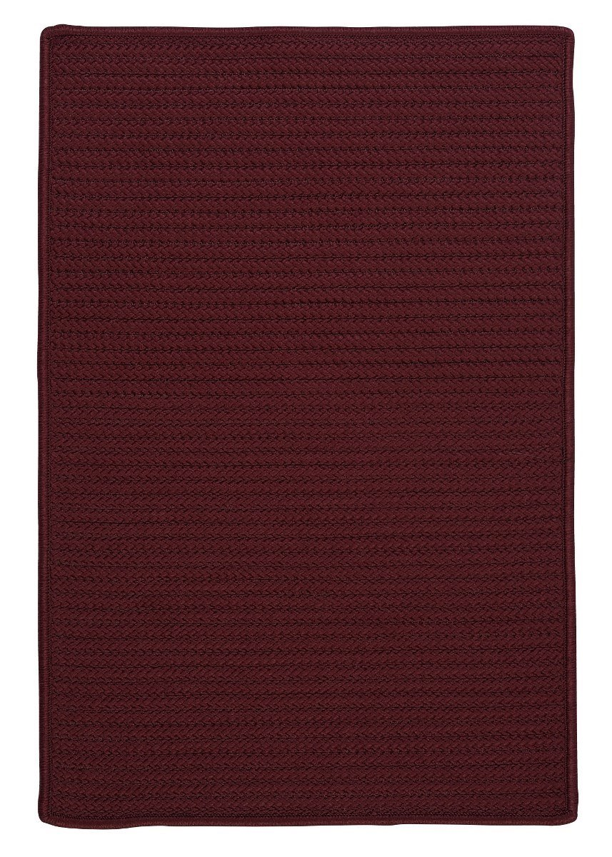 Simply Home Solid Corona Outdoor Braided Rectangular Rugs