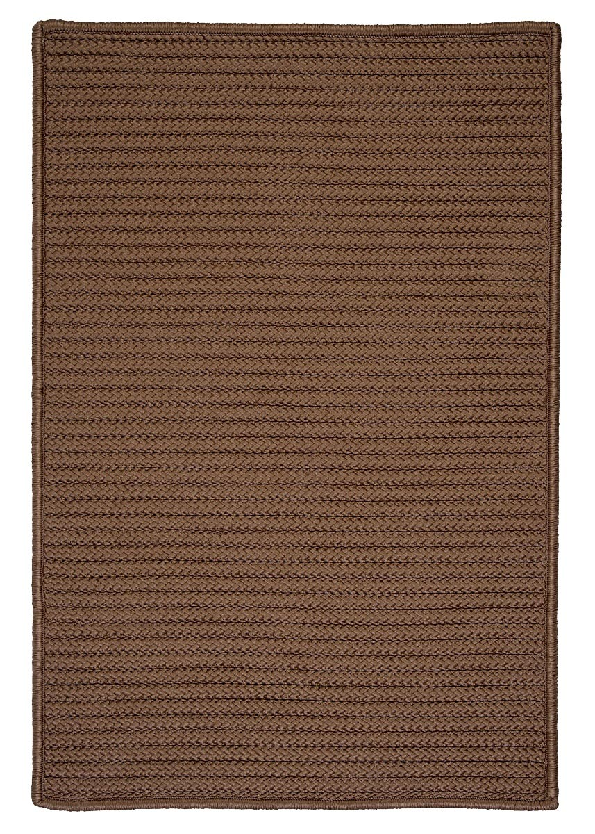 Simply Home Solid Cashew Outdoor Braided Rectangular Rugs