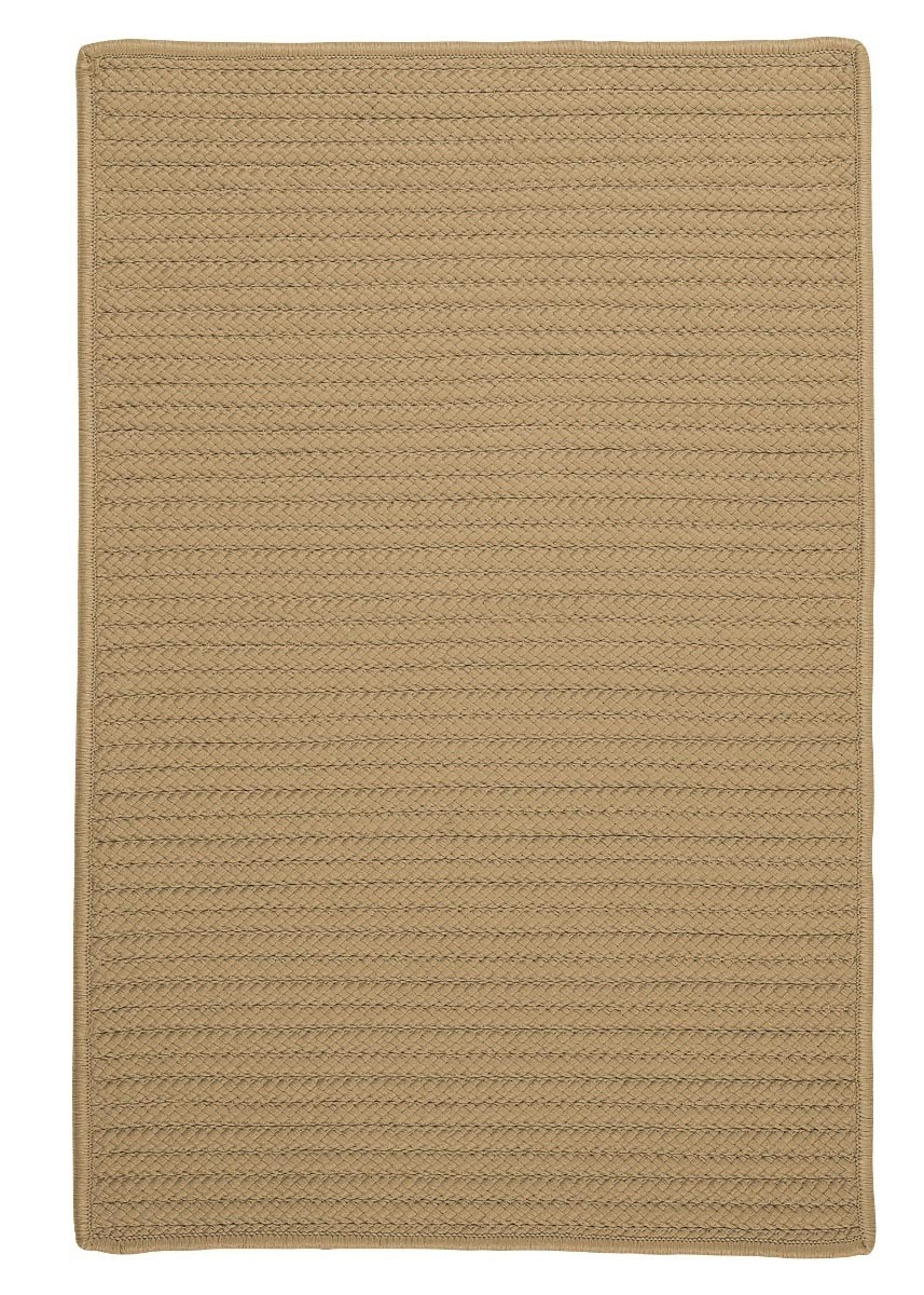 Simply Home Solid Cuban Sand Outdoor Braided Rectangular Rugs