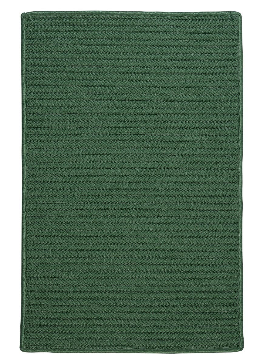 Simply Home Solid Myrtle Green Outdoor Braided Rectangular Rugs