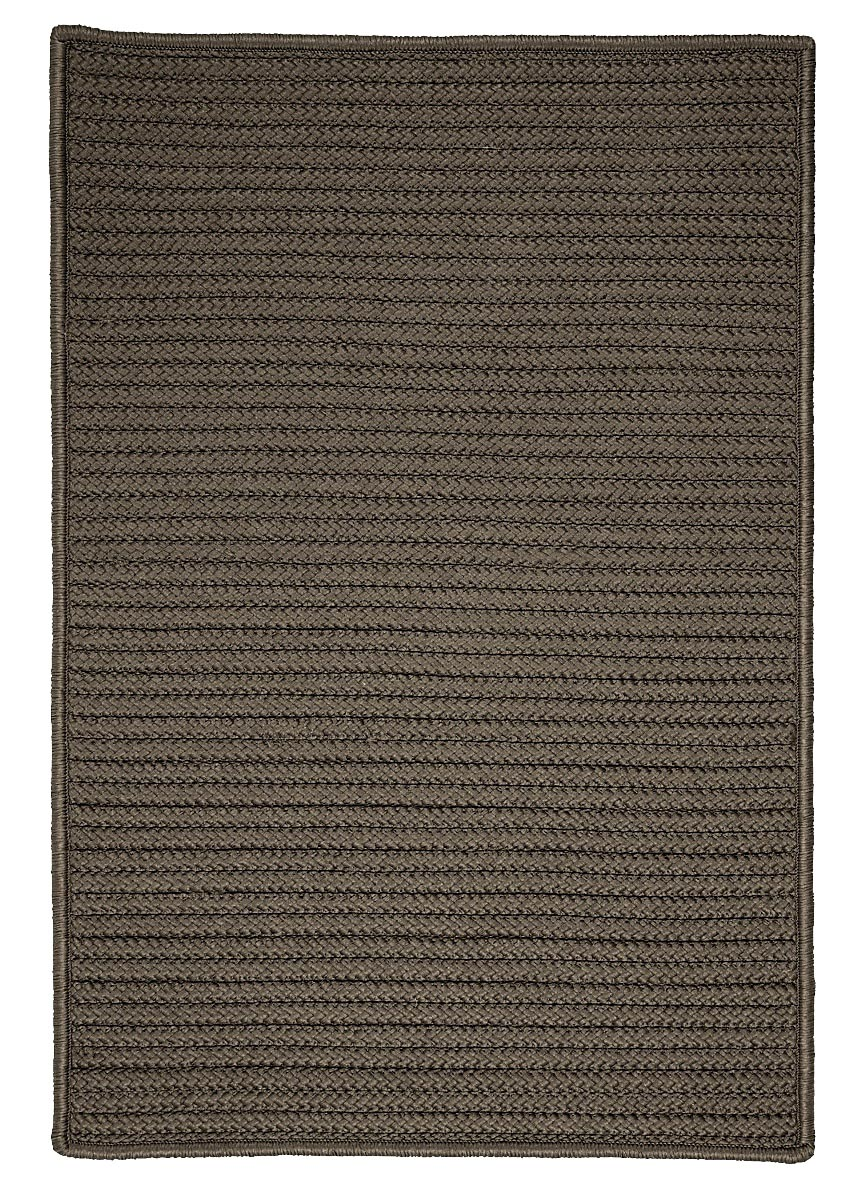 Simply Home Solid Gray Outdoor Braided Rectangular Rugs