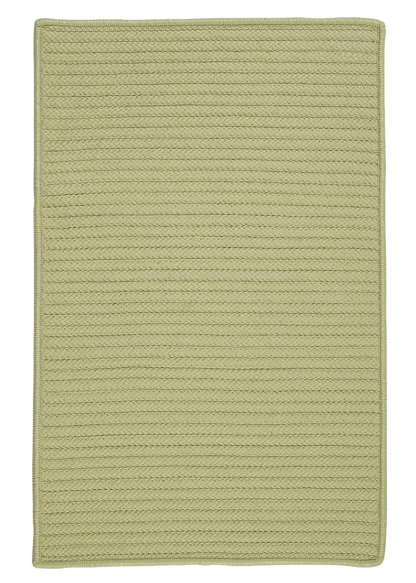 Simply Home Solid Celery Outdoor Braided Rectangular Rugs