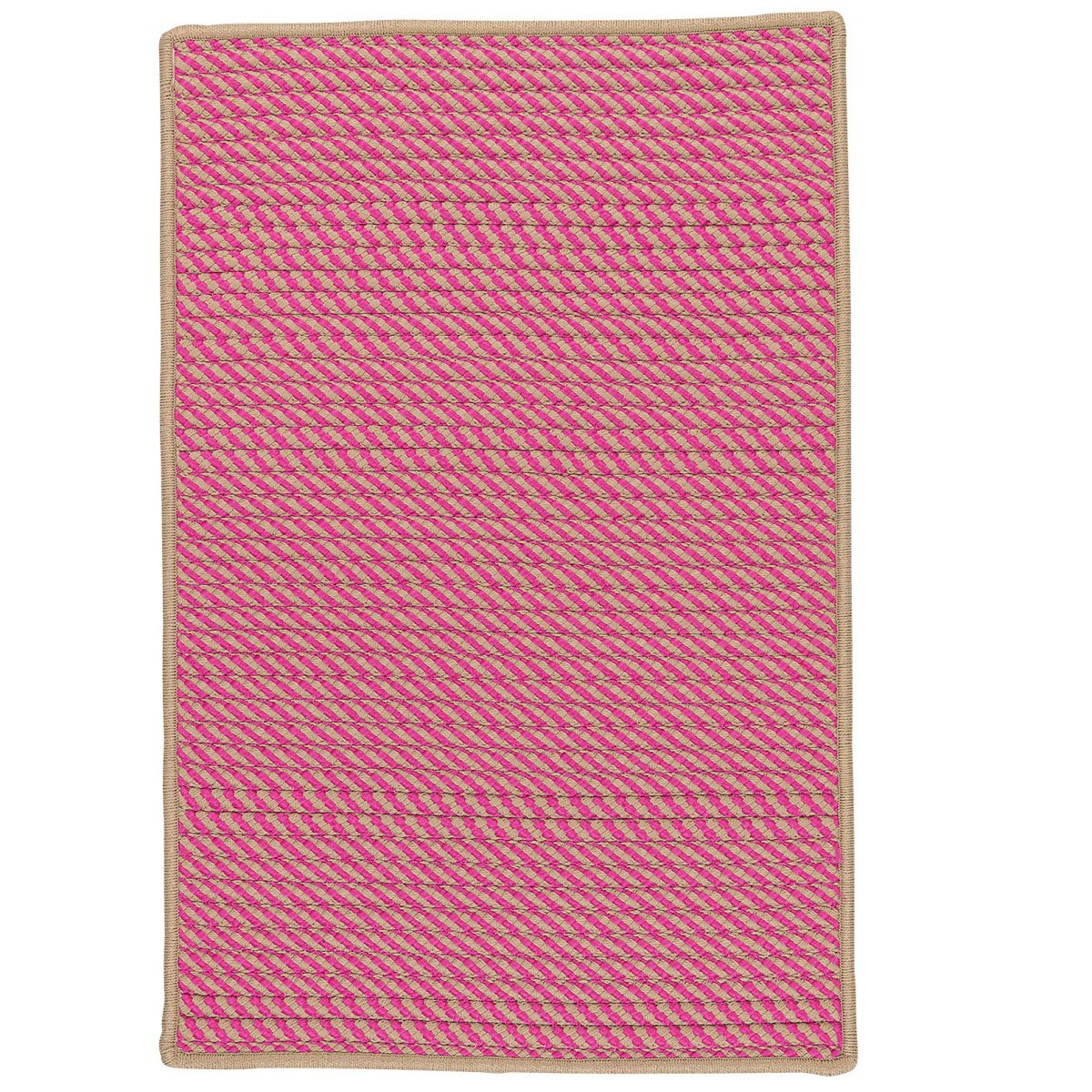 Point Prim Magenta Outdoor Braided Rectangular Rugs