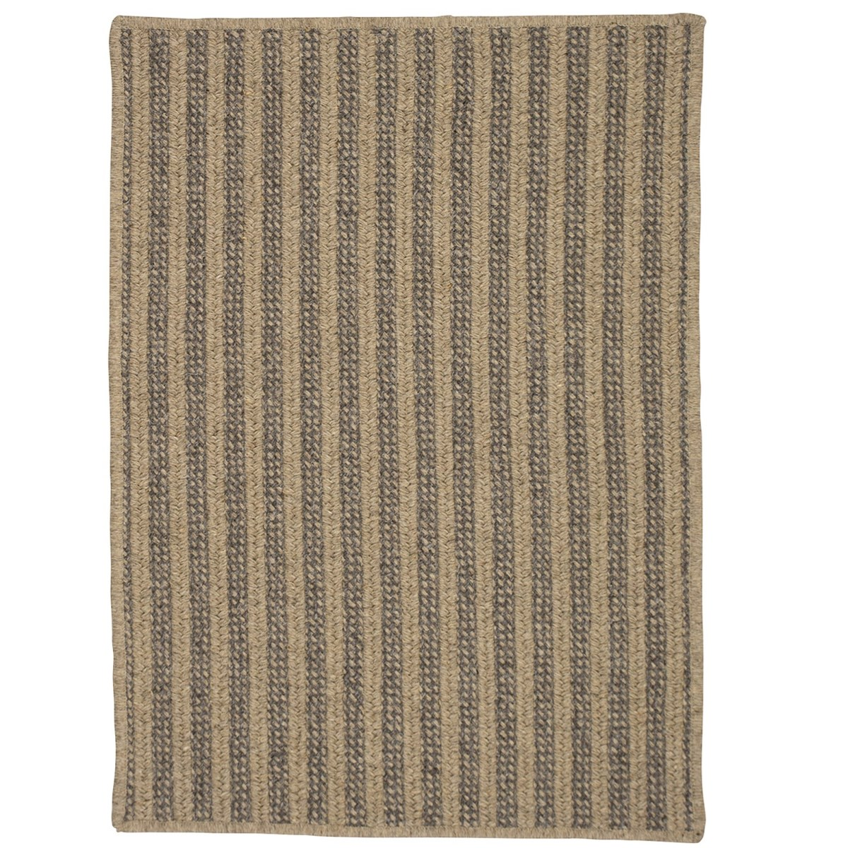 Woodland Dark Natural Wool Braided Rectangular Rugs