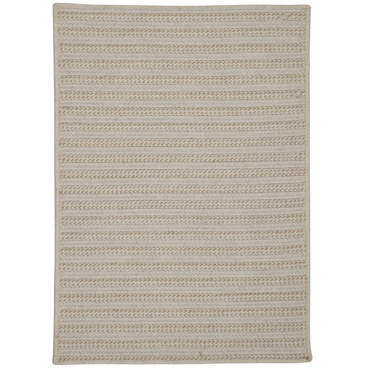 Sunbrella Booth Bay Wheat Outdoor Braided Rectangular Rugs