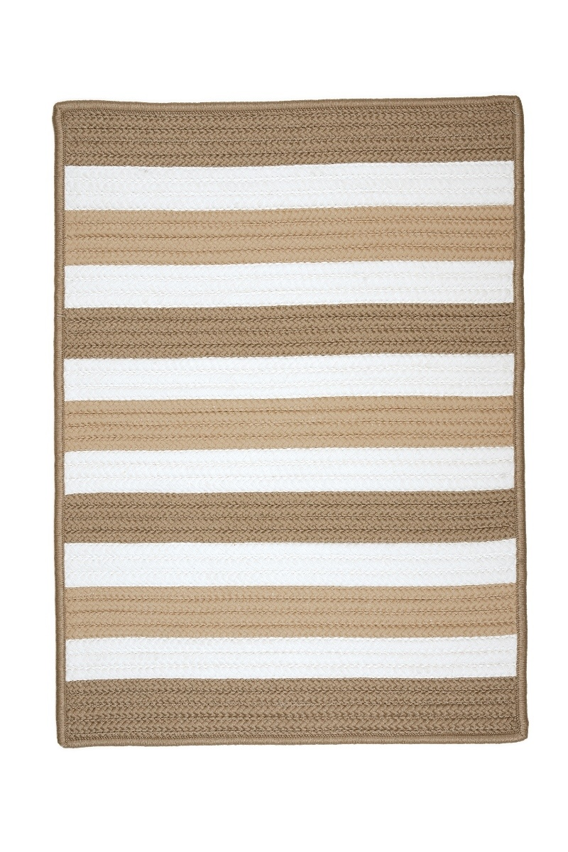 Portico Sand Outdoor Braided Rectangular Rugs