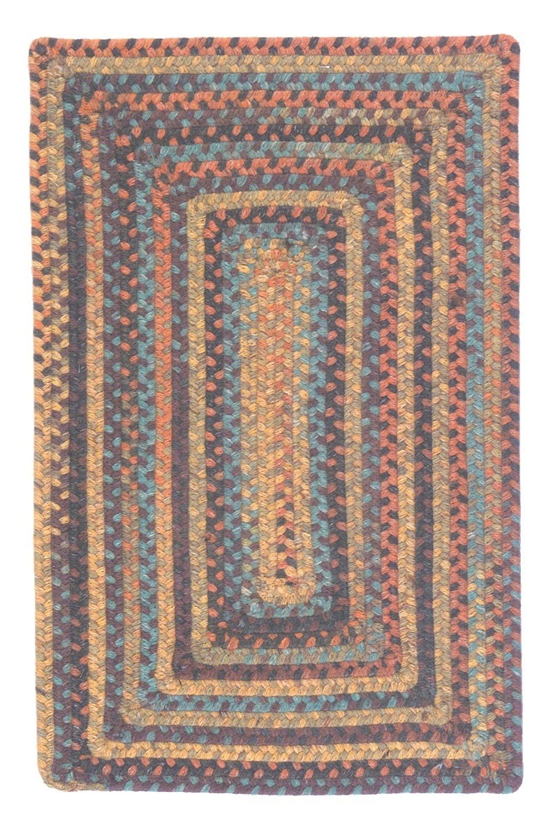 Ridgevale Floral Burst Wool Braided Rectangular Rugs