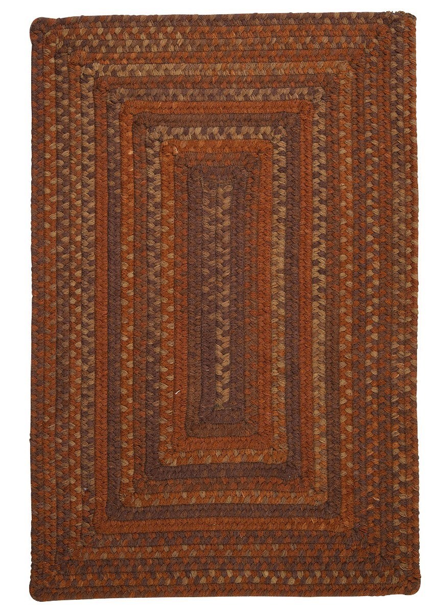 Ridgevale Audubon Russet Wool Braided Rectangular Rugs