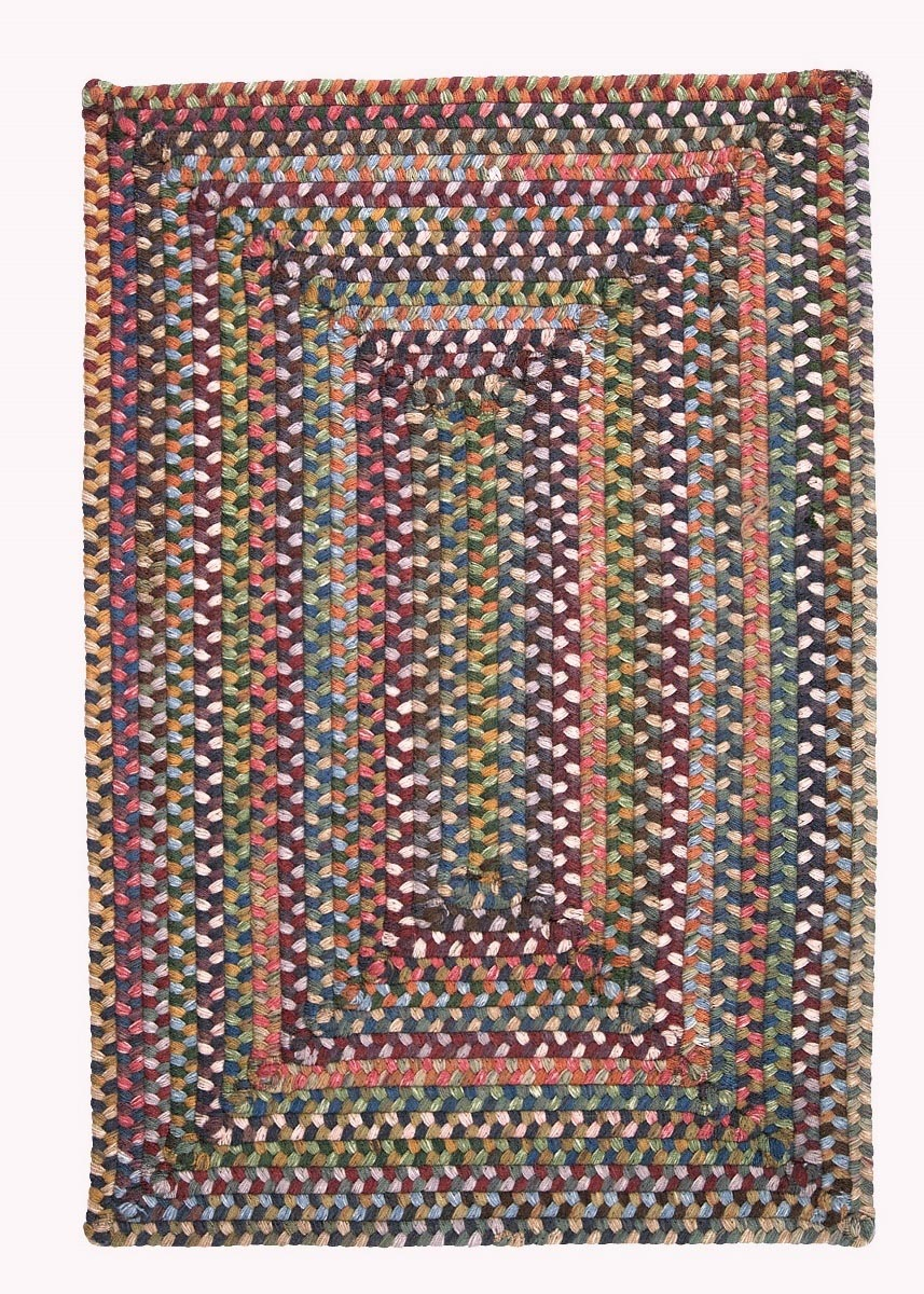 Ridgevale Classic Medley Wool Braided Rectangular Rugs