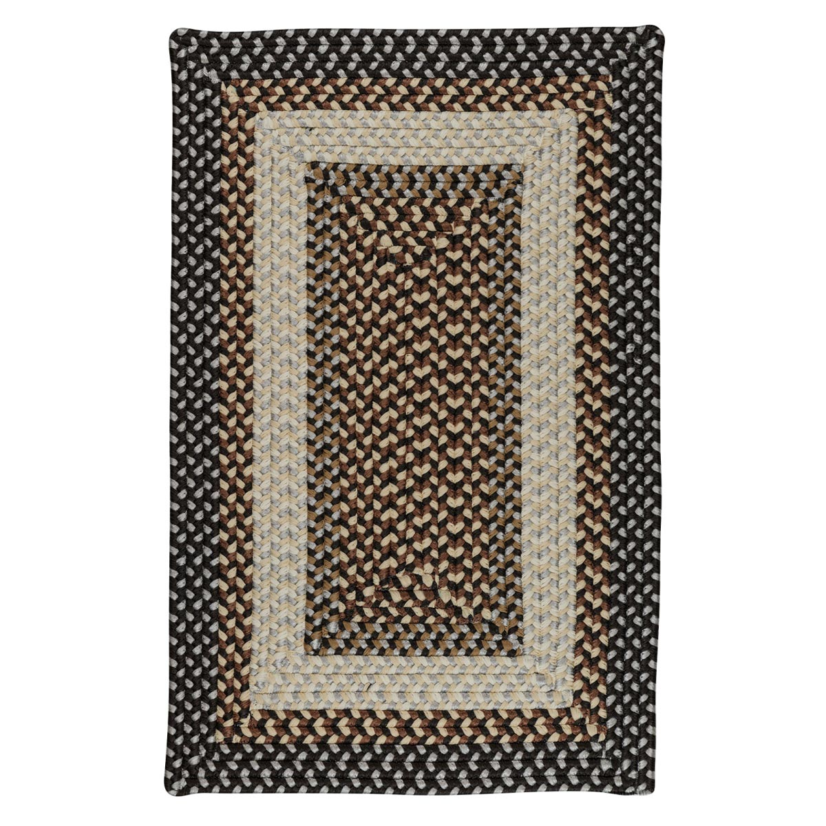 Tiburon Misted Gray Outdoor Braided Rectangular Rugs