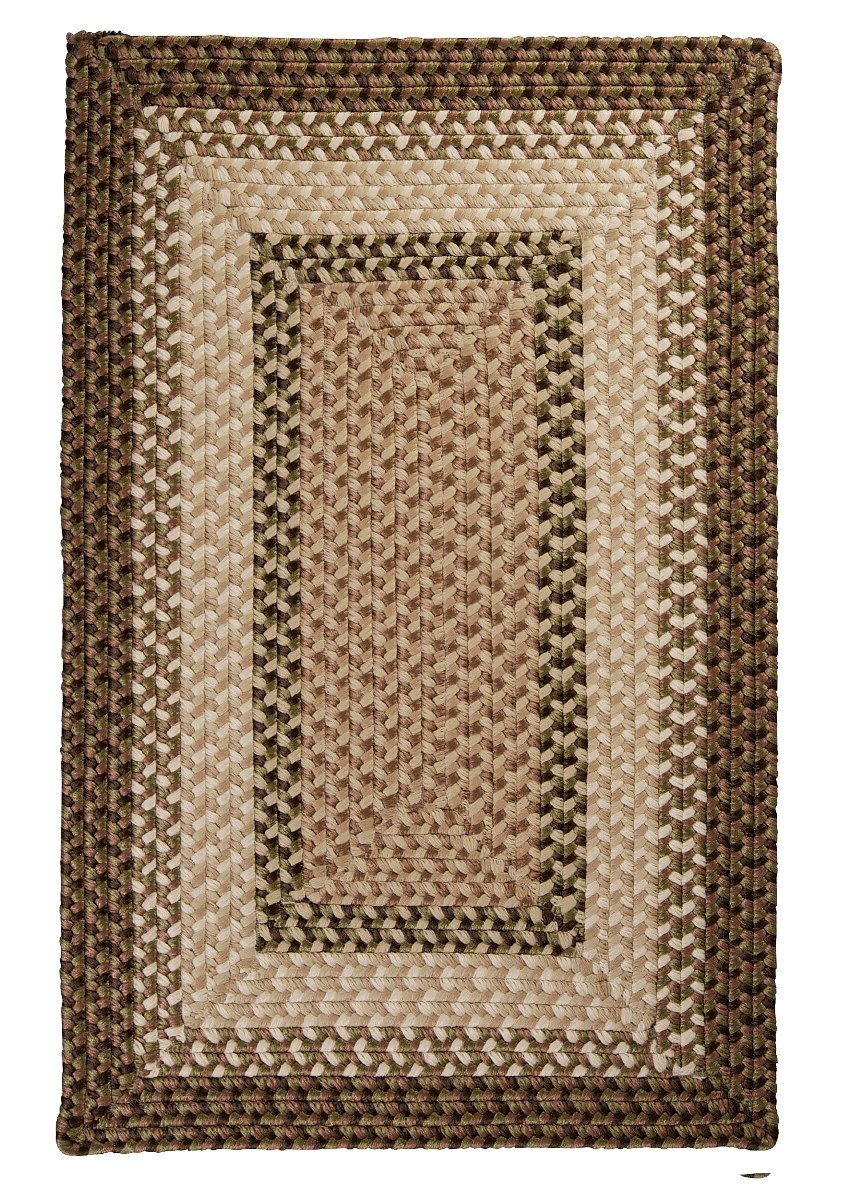 Tiburon Spruce Green Outdoor Braided Rectangular Rugs
