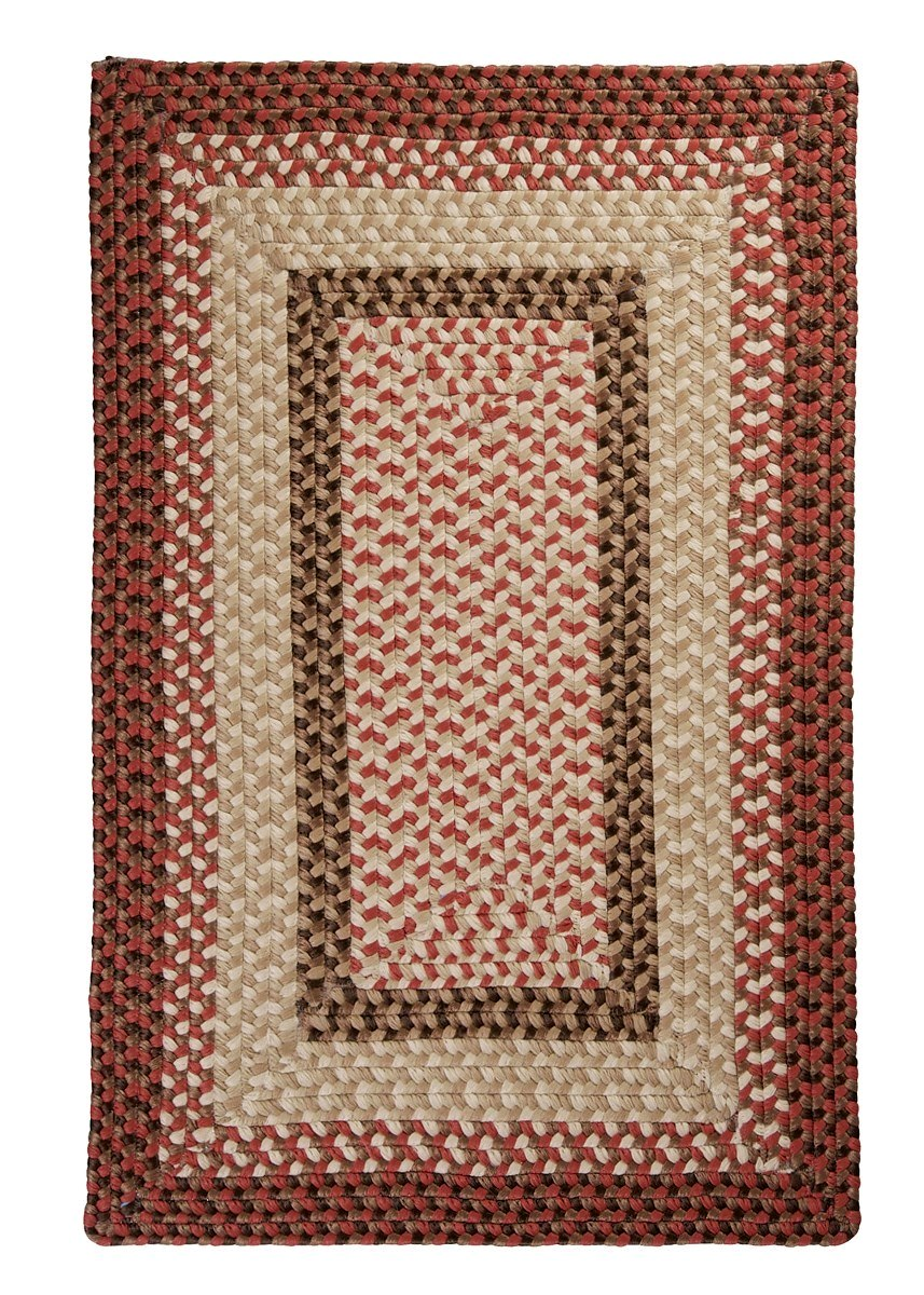 Tiburon Rusted Rose Outdoor Braided Rectangular Rugs