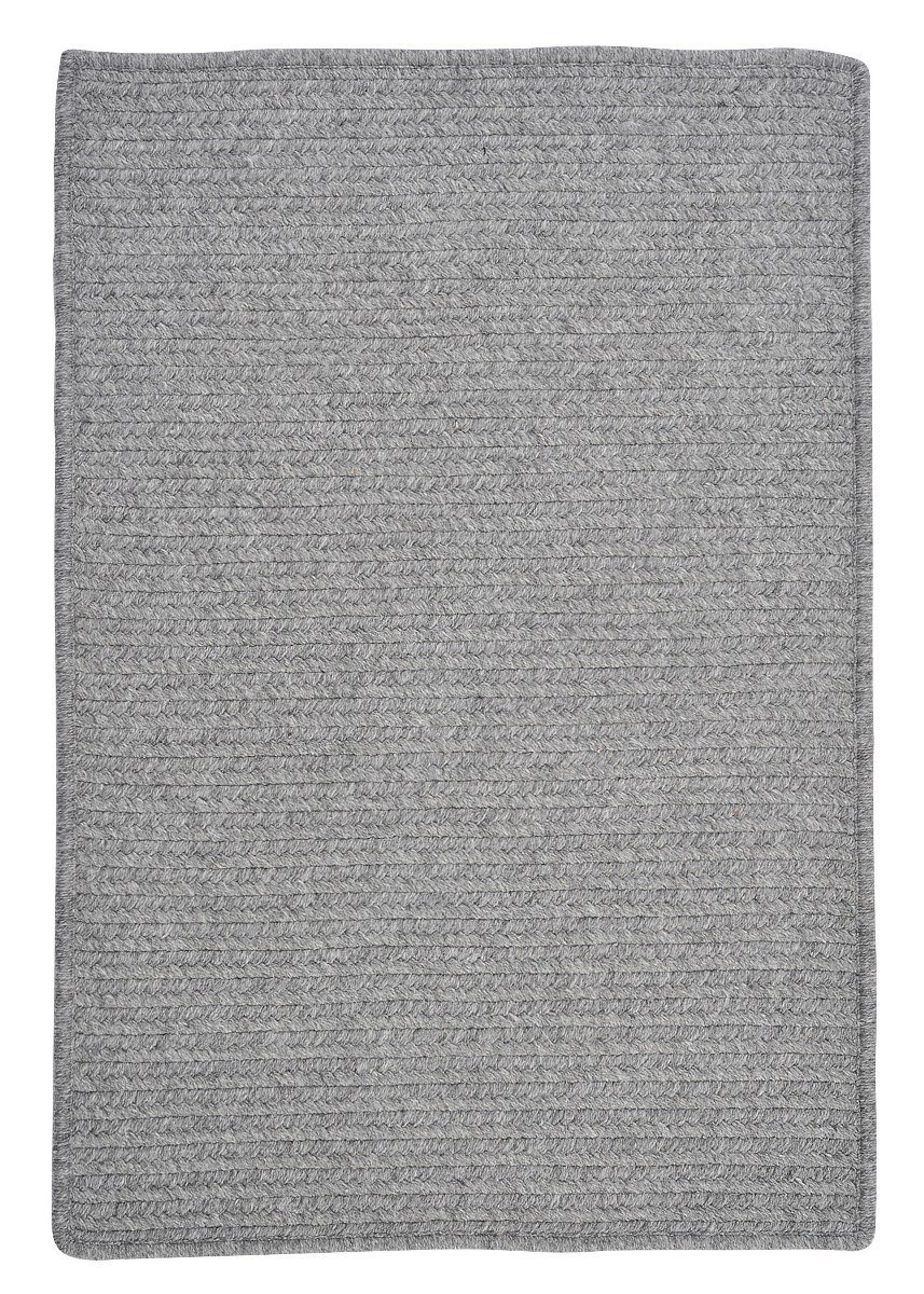 Westminster Light Gray Outdoor Braided Rectangular Rugs