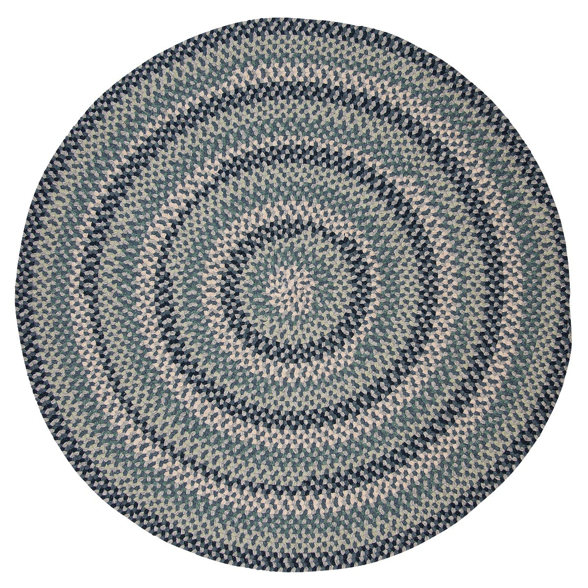 Boston Common Capeside Blue Outdoor Braided Round Rugs