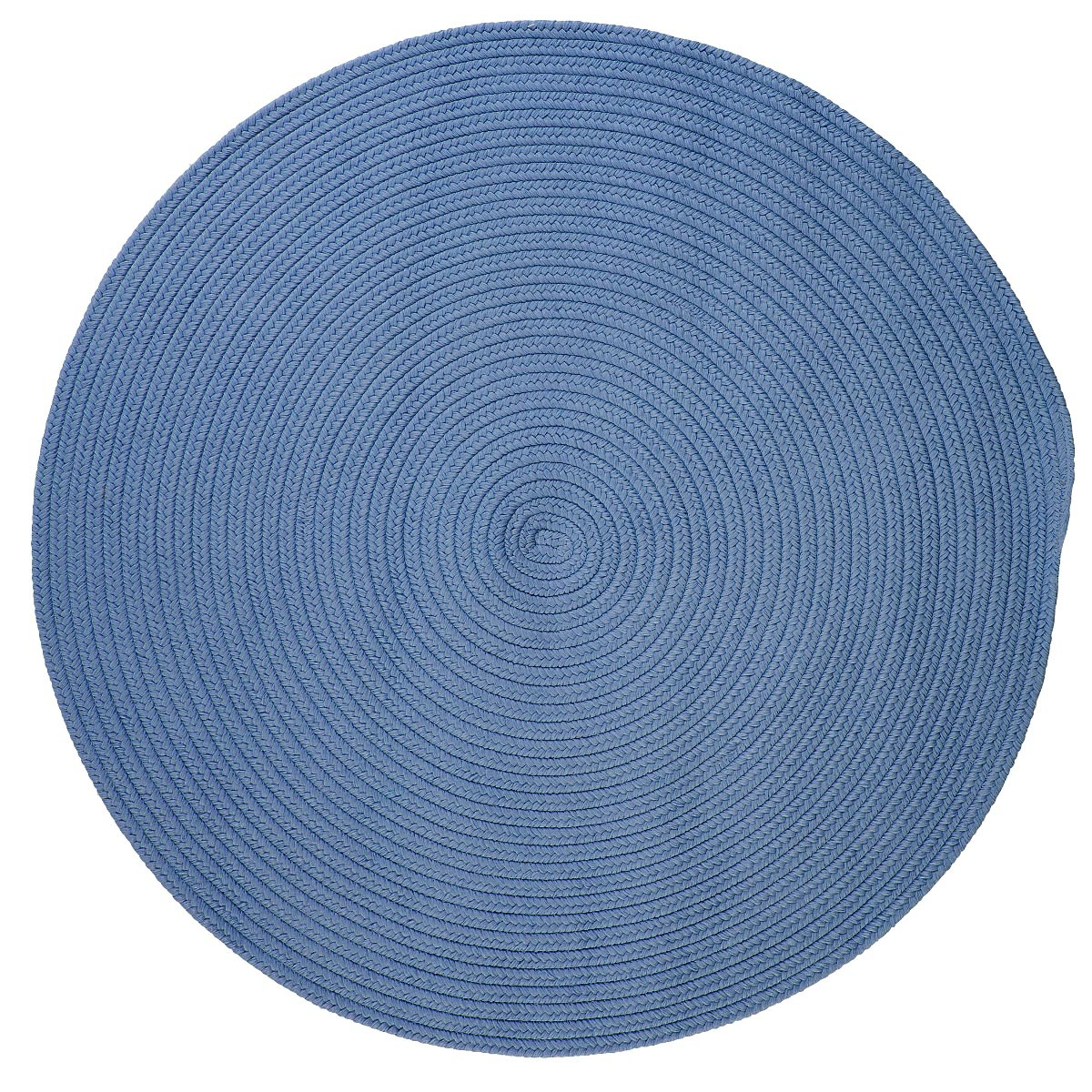 Boca Raton Blue Ice Outdoor Braided Round Rugs