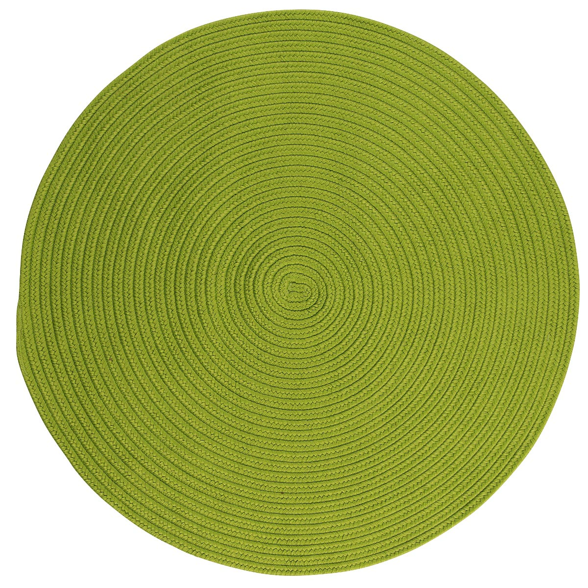 Boca Raton Bright Green Outdoor Braided Round Rugs
