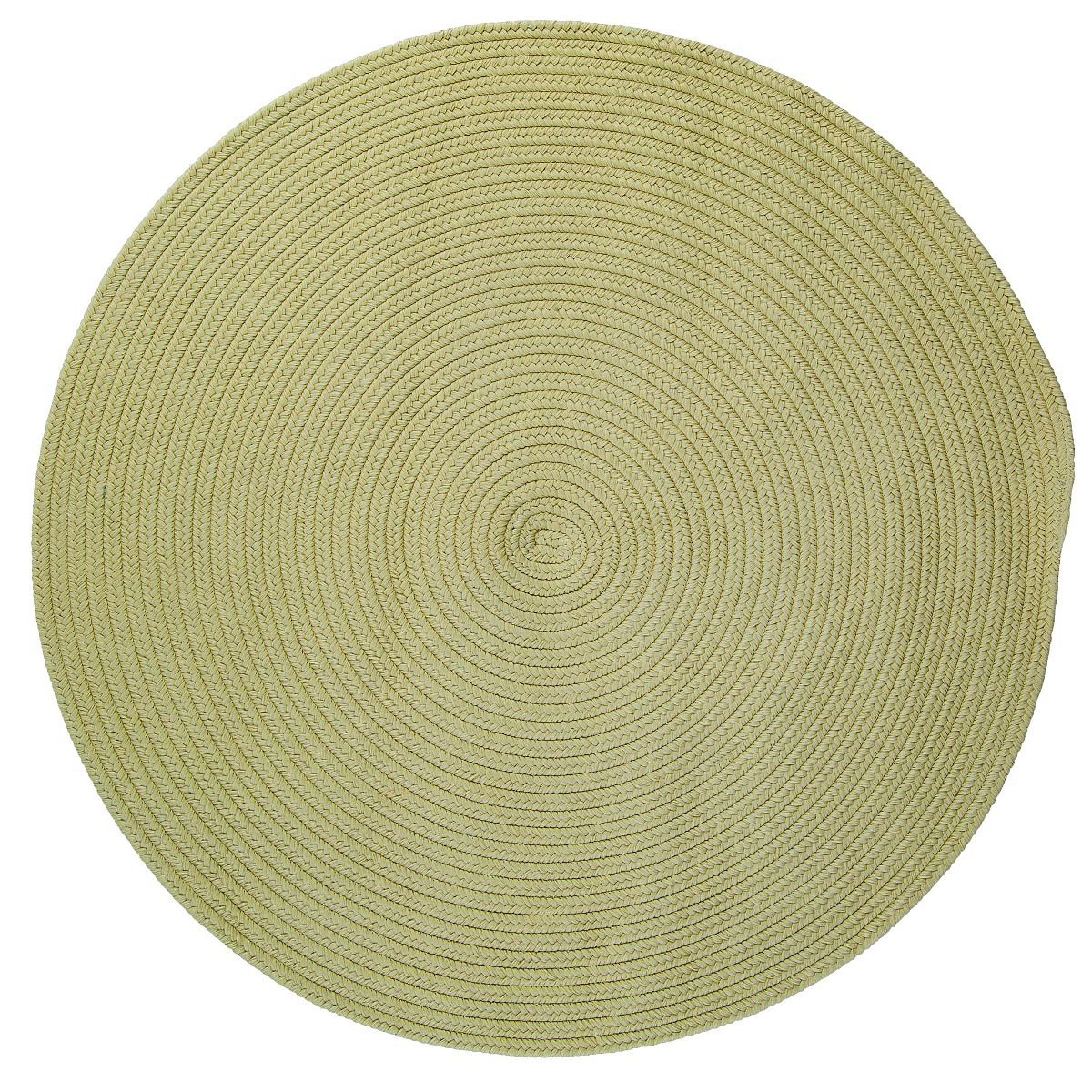 Boca Raton Celery Outdoor Braided Round Rugs