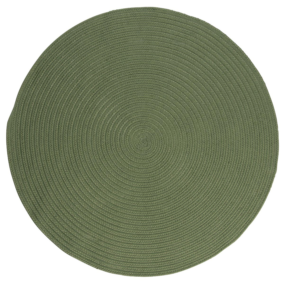 Boca Raton Moss Green Outdoor Braided Round Rugs