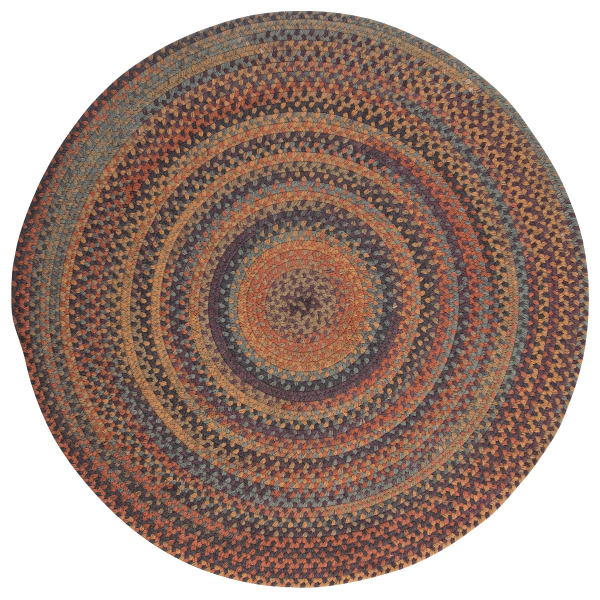 Rustica Floral Burst Wool Braided Round Rugs