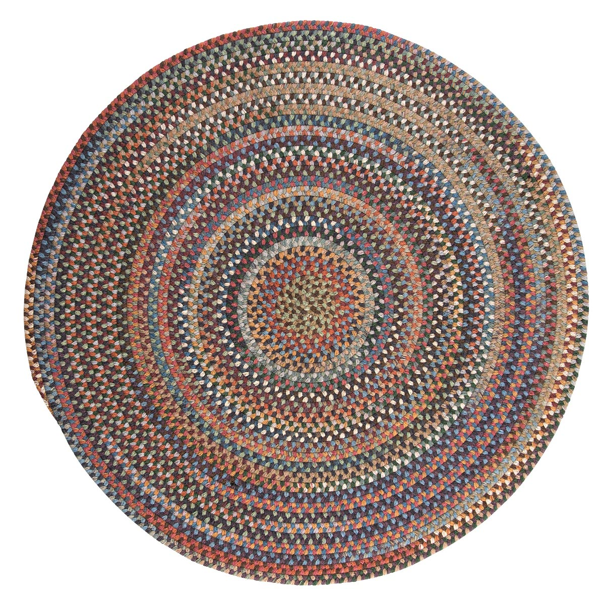 Rustica Classic Multi Wool Braided Round Rugs