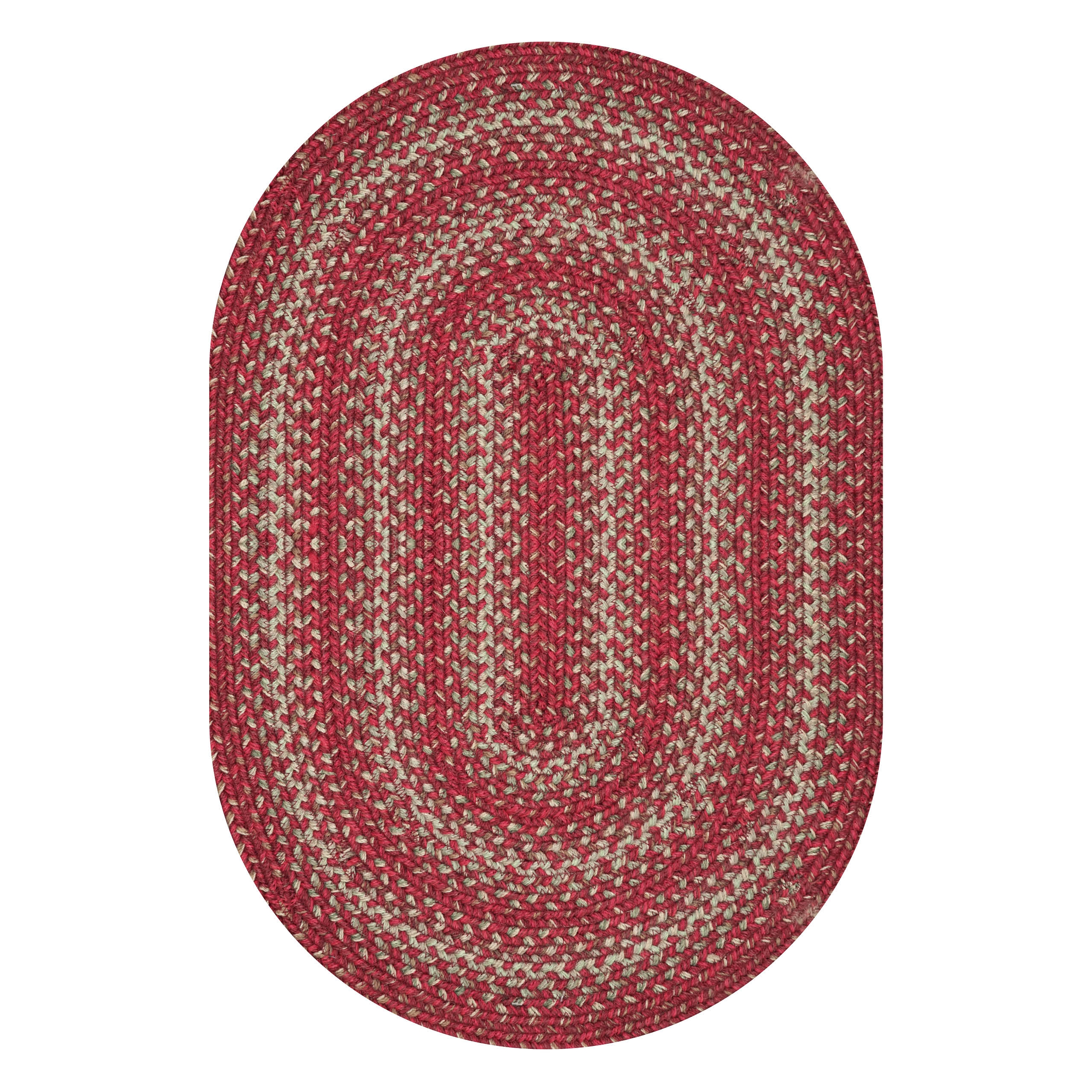Apple Pie Red Jute Braided Oval Rugs