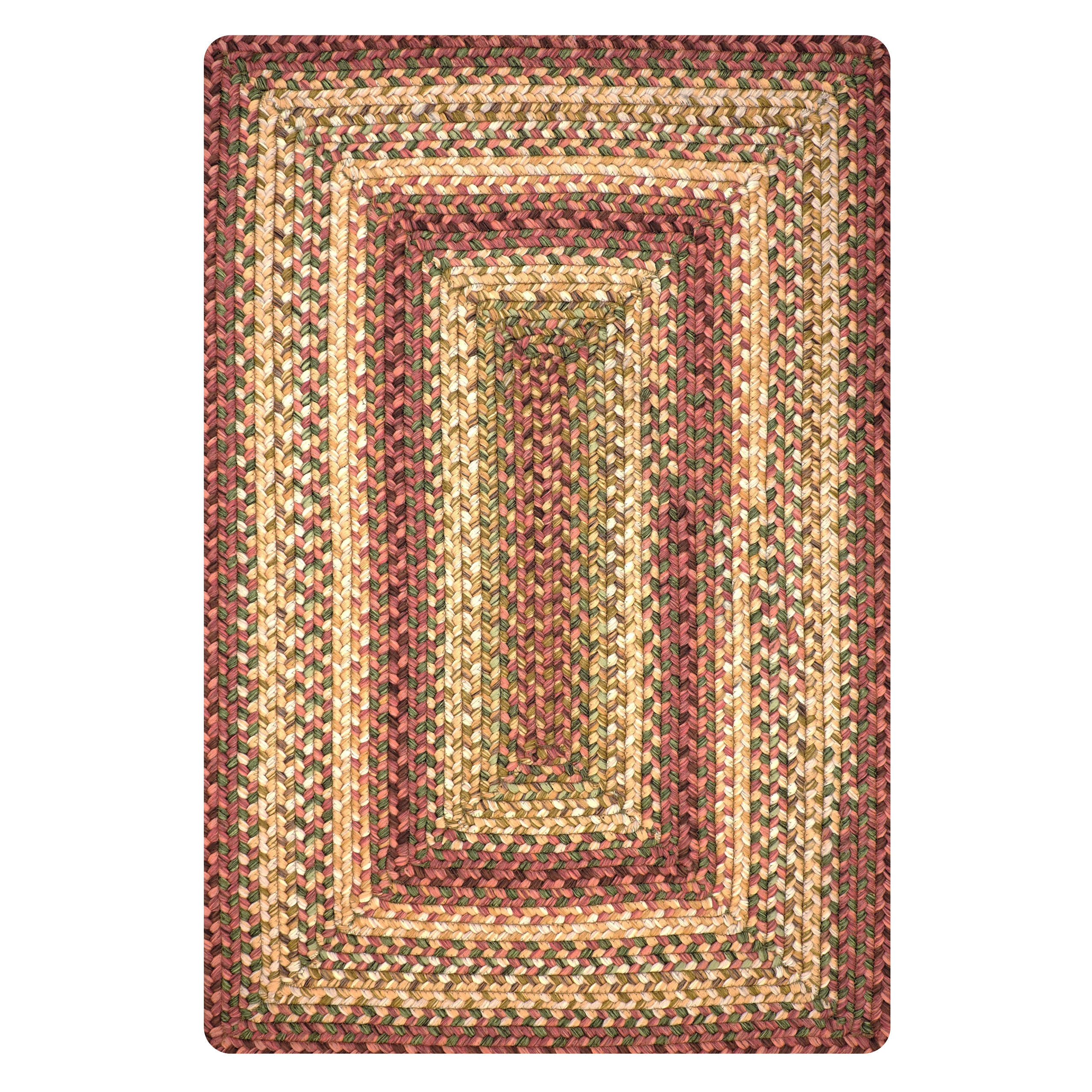 Barcelona Gold - Burgundy Ultra Durable Braided Rectangular Rugs