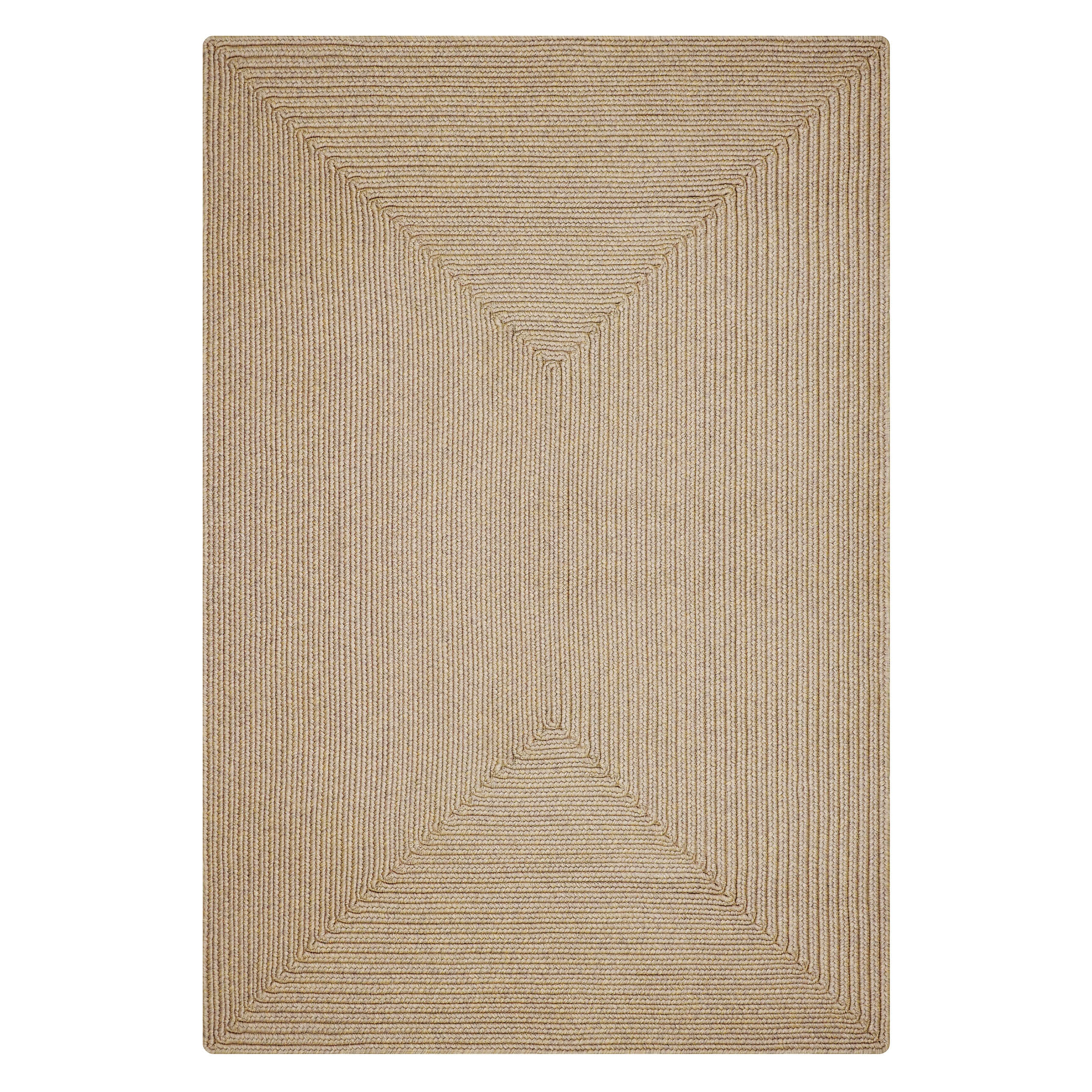 Biscuit Brown Ultra Durable Braided Rectangular Rugs