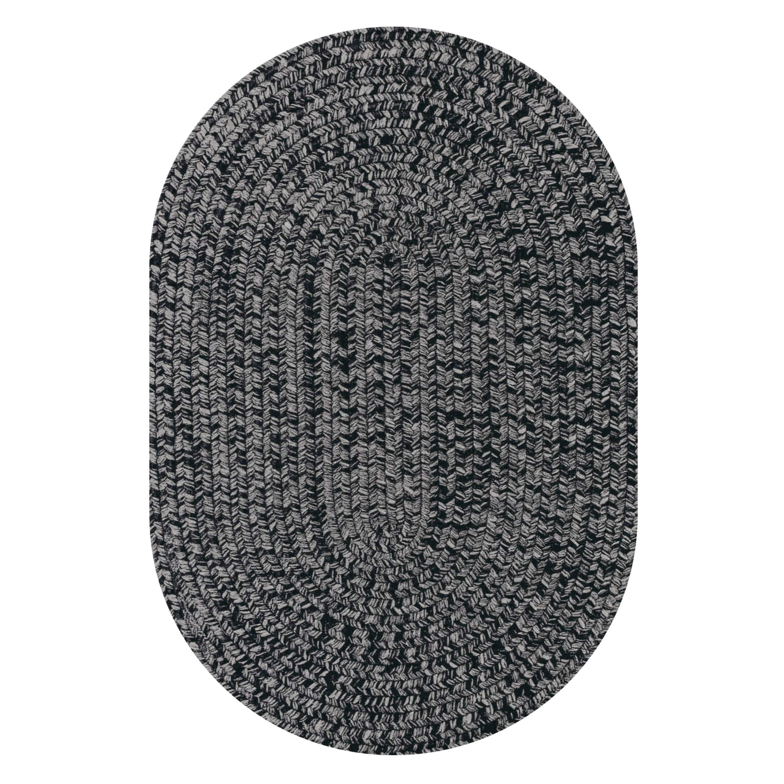 Black Outdoor Braided Oval Rugs