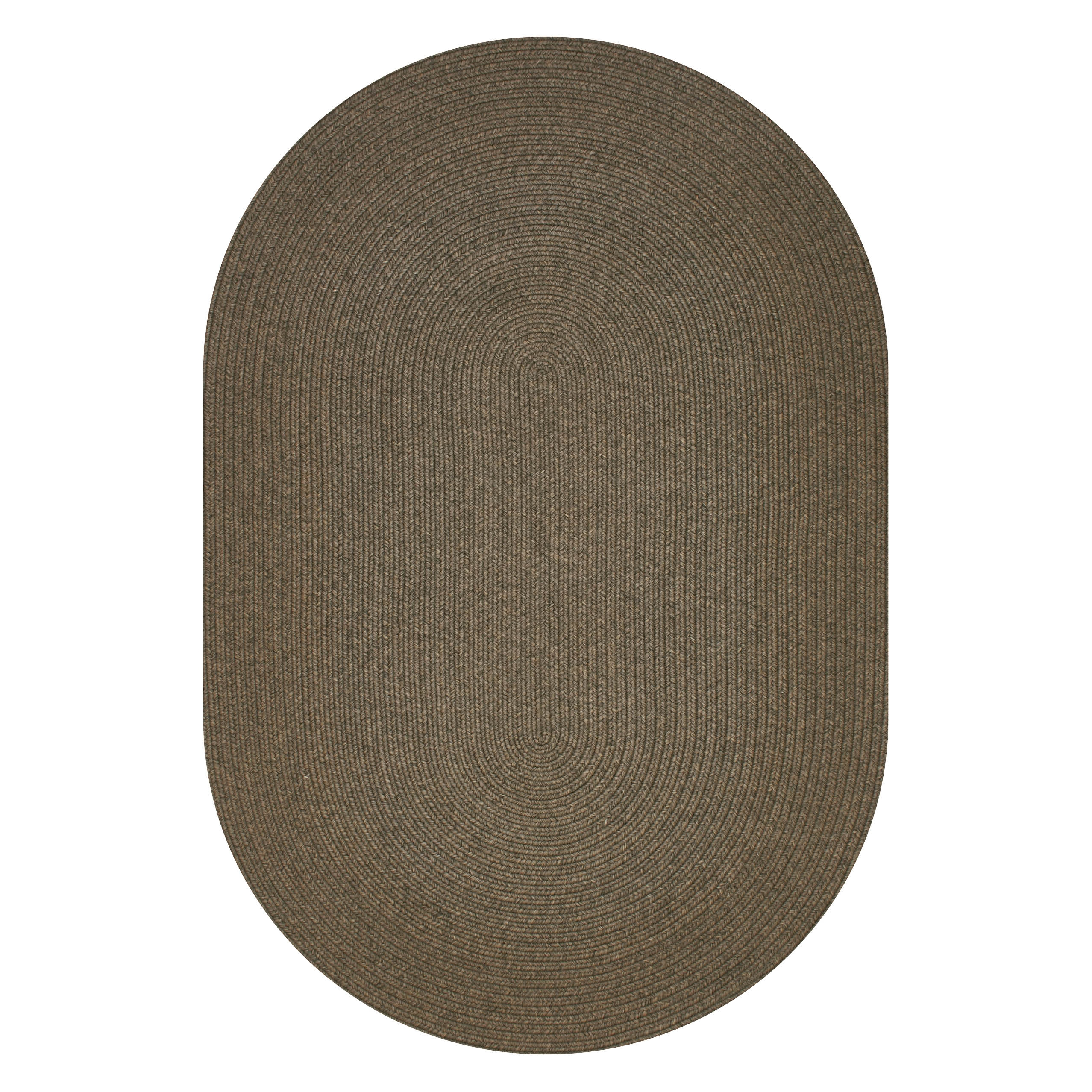 Bronze Brown Ultra Durable Braided Oval Rugs